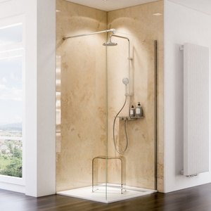 Schulte ExpressPlus 72H Decodesign Duschrückwand Hochglanz - Kalkstein hell - EP19010253 704