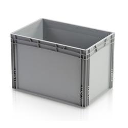 Kunststofftransportbehälter, geschlossener griff, 600 x 400 x 420 mm