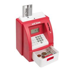 Idena Spardose, Digitale Spardose Geldautomat, rot-weiß, mit Sound