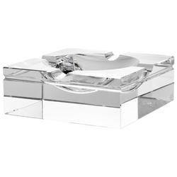 Casa Padrino Luxus Kristallglas Aschenbecher 20 x 20 x H. 7,5 cm - Wohnzimmer Accessoires