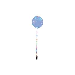 Happy People Luftballon Leuchtballon mit Lichterkette, transparent blau