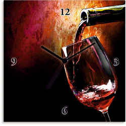 Artland Wanduhr Wein - Rotwein