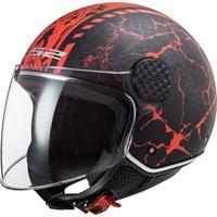 LS2 OF558 Sphere Lux Snake schwarz/rot