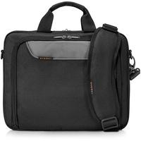 Everki Advance – Laptoptasche für Notebooks bis 14,1 Zoll (35,9 cm mit Zubehör-Fach, kontrastreichem Innenfutter und Trolley-Lasche, Schwarz
