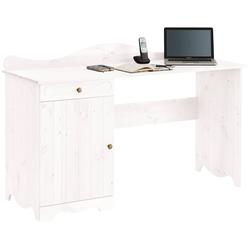 Home affaire Schreibtisch Ieva, im Landhaus-Design weiß