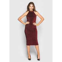 Santali Abendkleid Kleid rot L