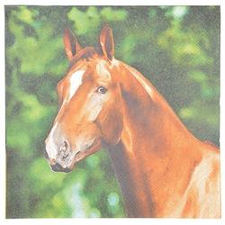 Linoows Papierserviette 20 Servietten Pferdeportrait, Pferd auf dem Bauern, Motiv Pferdeportrait, Pferd auf dem Bauernhof