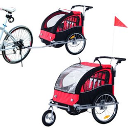 HOMCOM Kinderanhänger 2 in 1 – Fahrradanhänger und Jogger 125 x 88 x 107 cm (LxBxH)   Fahrradanhänger Jogger Kinderfahrradanhänger