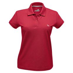 Hunter Damen-Poloshirt rot, Größe: L