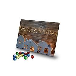 Personalisierter Schoko-Adventskalender (Typ: Lichterkette) - Kalender