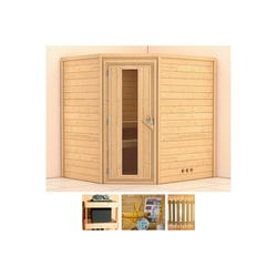 KONIFERA Sauna Meyk, BxTxH: 196 x 170 x 198 cm, 38 mm, ohne Ofen