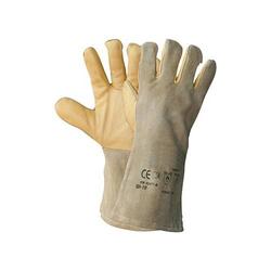 TEXXOR 1207 Schweißerhandschuhe Schutzhandschuhe VESUV Gr 10 Baumwollfutter - Größe:10