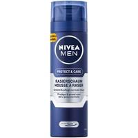 NIVEA Men Shaving Foam Rasierschaum 6er Pack (6 x 200 ml & Care für normale Haut