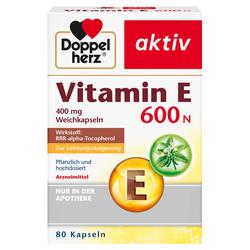 DOPPELHERZ Vitamin E 600 N Weichkapseln 80 St