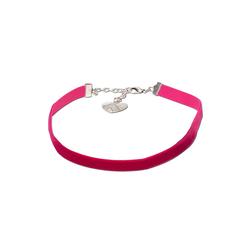 Kropfband aus Samt pink