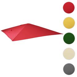 Bezug für Luxus-Ampelschirm HWC-A96, Sonnenschirmbezug Ersatzbezug, 3x4m (Ø5m) Polyester 3,5kg ~ rot