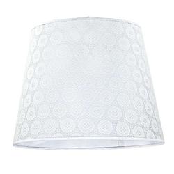 Licht-Erlebnisse Lampenschirm WILLOW Weißer Lampenschirm Häkel Spitze Hängeleuchte Pendelleuchte Lampe