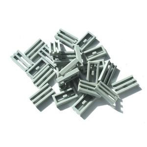 25x LEGO® Gitter-Fliese/Kachel 1x2 2412 NEU (neu) Hellgrau Light Bluish Gray