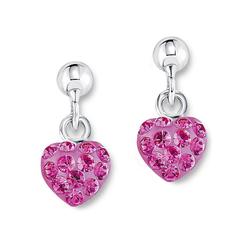 Amor Paar Ohrstecker Herz, 9210435, mit Kristallglassteinen