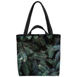 VOID Henkeltasche (1-tlg), Tannen Winter Bäume Tannenzweig Tanne Tannenbaum Pflanzen Baum Christbau