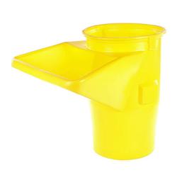 Schuttrutsche Trichter gelb / 5,0-5,5 mm