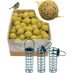dobar Vogelfutter Meisenknödel, 200 Stk. mit Netz inkl. 3 Futterspender