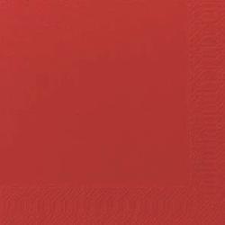 Duni Zelltuch Servietten 40x40 3lg 1/4 F rot - 4x250 Stück
