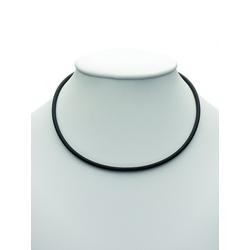 Adelia´s Silberkette Kautschuk & 925/ Halsketten, 925 Sterling Silber 2 mm