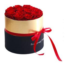 Kunstblume Ewige Blume, Gotui, Rosen in einer Schachtel,Hochzeitsgeschenk,20*21cm