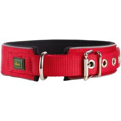 Halsband Neopren Reflect rot/schwarz 65