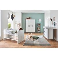 arthur berndt Babyzimmer-Komplettset Liam, (Set, 4-St), Made in Germany; mit Kinderbett, Regal, Schrank und Wickelkommode