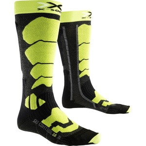 X-Socks Herren Socken SKI CONTROL 2.0, Anthracite/Green Lime, 45/47, X100090