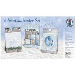 Adventskalender-Set Geschenktüten Frosty 12x19x6cm