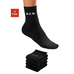 H.I.S Socken (4-Paar) ohne einschneidendes Bündchen schwarz 35-38