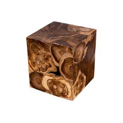 Levandeo® Couchtisch, Beistelltisch Hocker Teakholz Tisch Höhe 45cm Holzhocker Holztisch Massiv-Holz