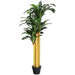 Kunstbaum Zimmerpflanze Deko, COSTWAY, Höhe 140.00 cm grün 140.00 cm