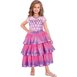 Kostüm Barbie Edelstein Ballkleid, 1-tlg. pink Gr. 128/140 Mädchen Kinder