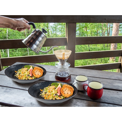 APS Geschirr-Set (2-tlg), Melamin, Camping-Geschirr Suppen-Teller, Picknickgeschirr, Bootsgeschirr, Essgeschirr für Wohnmobil