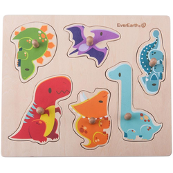 EverEarth® Puzzle Puzzle - Dinosaurier, 6 Puzzleteile