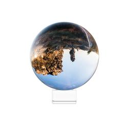Navaris Dekoobjekt, Glaskugel Fotografie Kugel aus K9 Glas - Fotokugel mit Ständer - Kristallkugel Klare Kristall Deko mit Glasständer - Ø 130mm