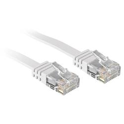 Lindy 47500 0.3m Cat.6 U/UTP  Flachband-Netzwerkkabel, weiß