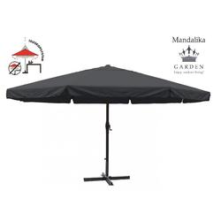 Mandalika Garden MERCATO XXL Sonnenschirm 500cm Gastronomie geeignet UV60+ grau
