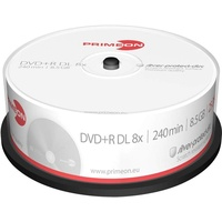 PrimeOn DVD+R DL 25 Disc), silver-protect-disc Surface, silber