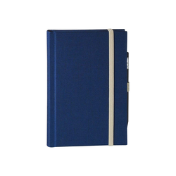 memo Skizzenbuch Leinen A4, (B 209 X H 294 mm) blau, 176 Seiten, Zeichenband,...