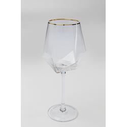 Weinglas DIAMOND GOLD RIM KARE DESIGN