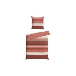 Casa Nova Bettwäsche in rot/beige, 135 x 200 cm