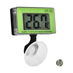 kueatily Aquarium Aquarium Thermometer Aquarium Temperaturmessgerät Digitales Wasserthermometer Aquarium Digitalanzeige Thermometer mit Saugnapf für Terrarium Aquarium Aquarium