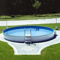 "Steinbach Stahlwand Swimming Pool ""Styria rund"",sandfarbene Poolfolie,Ø 500 x 150 cm"