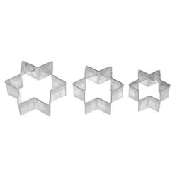 Ausstecher 3fach Stern 2 3 und 4cm