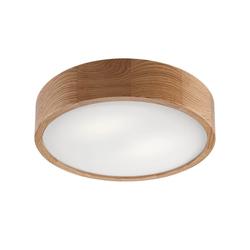 Licht-Erlebnisse Deckenleuchte ARBARO Moderne Deckenbeleuchtung Holz Eiche rund blendarm Flur Lampe